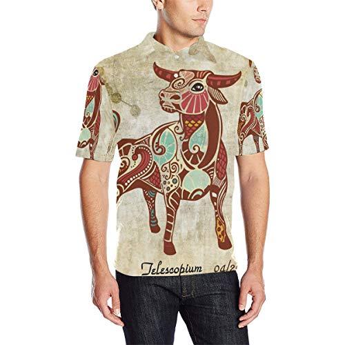 Constellation Zodiac Sign Taurus Men's Polo Shirt