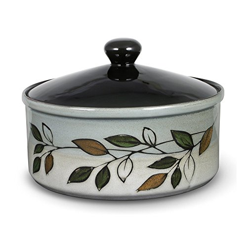 Pfaltzgraff Everyday Rustic Leaves Covered Casserole Dish