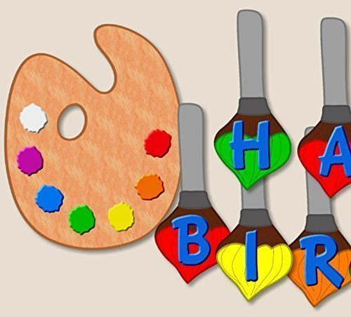 Art Painting Birthday Party Decoration