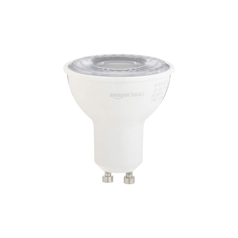 10,000 Hour Lifetime Daylight LED Light Bulb Dimmable 10-Pack MR16 Basics 50W Equivalent GU10 Base