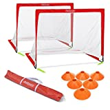 GoSports Premier Portable Pop Up Soccer Goals for Backyard – Kids & Adults – 4′ x 3′ Soccer Goal Set