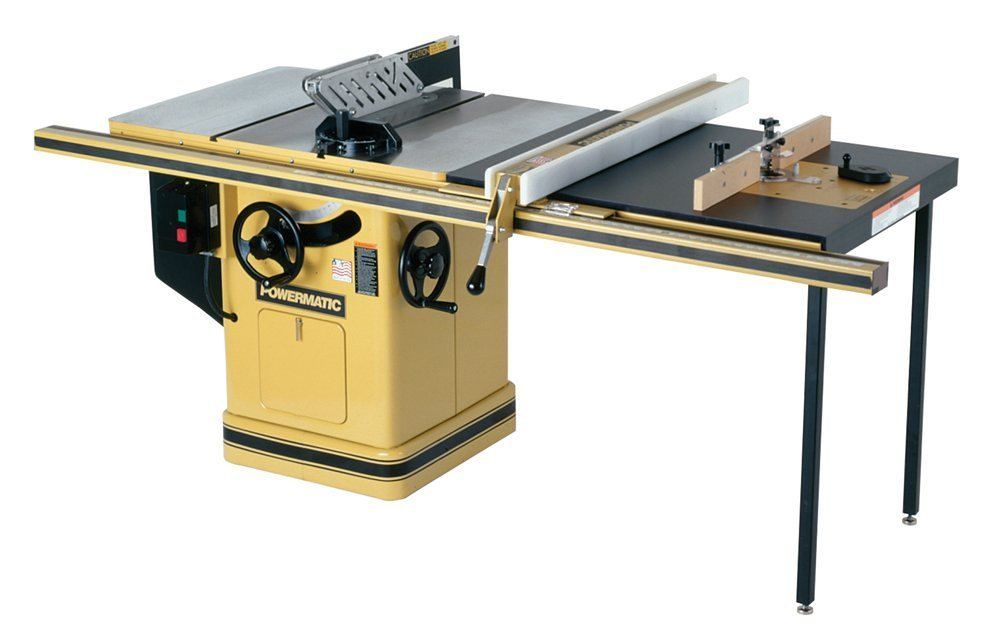 Powermatic 1660805k model 66 10 inch left tilt 5 horsepower table powermatic 1660805k model 66 10 inch left tilt 5 horsepower table saw with 50 inch accu fence router lift 2 cast iron extension wings table board greentooth Gallery