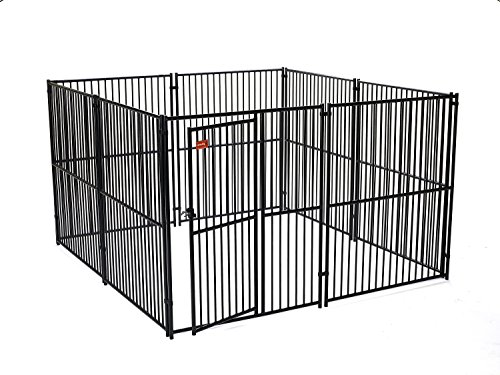 Dog Kennel - Lucky Dog Modular Box Kennel - This Welded Animal Enclosure is Perfect for Medium to Large Dogs and Animals and is Designed with Their Safety and Comfort In Mind. Dimensions (6'H x 10'L x 10'W); 216 lbs