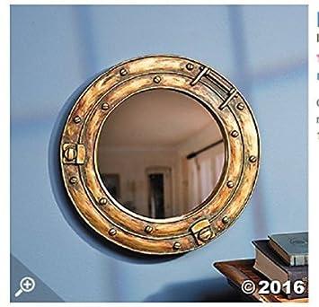 brass decor pin large porthole antique nautical original nursery window
