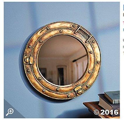 Espejo para pared con diseño de ojo de buey de barco