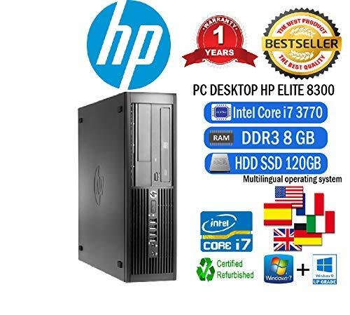 PC HP Elite 8300 SFF Intel Core i7 3770 3,40 GHz/8GB/SSD 120 GB ...