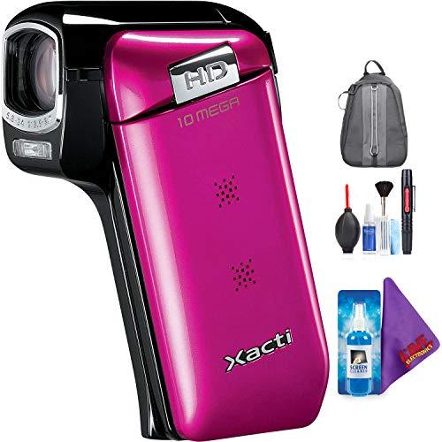 Sanyo Dual Camera Xacti 720p HD VPC-CG10 Camcorder (Pink) + Pro Accessories - Camcorder Cg10