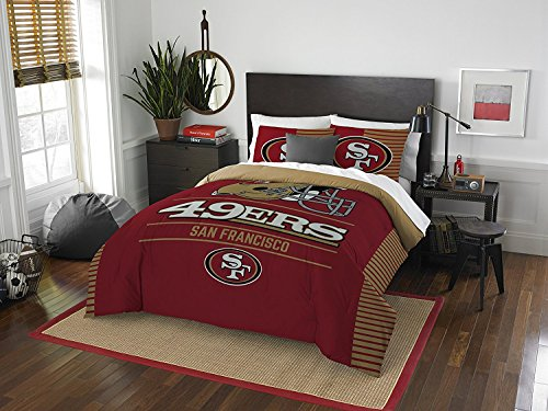 "Northwest NFL San Francisco 49ers ""Draft"" Full/Queen Bedd..."