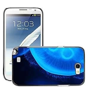 GoGoMobile Slim Protector Hard Shell Cover Case // M00118884 Animal Blue Creature Danger Dark // Samsung Galaxy Note 2 II N7100
