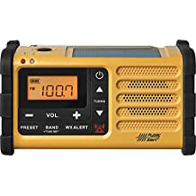 Sangean MMR-88 AM/FM/Weather, Alert Emergency Radio, Solar/Hand Crank/USB/Flashlight, Siren, Smartphone Charger