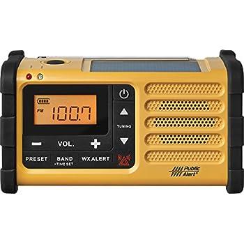 Sangean MMR-88 AM/FM/Weather+Alert Emergency Radio. Solar/Hand Crank/USB/Flashlight, Siren, Smartphone Charger