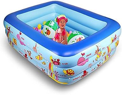 XIE - Piscina hinchable para niños con tres piscinas grandes, de ...
