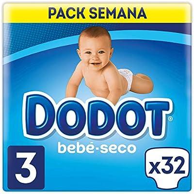 Dodot - Pañales para niños de 6-10 kg, talla 3, 32 unidades ...