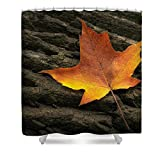 "Pixels Shower Curtain (74"" x 71"") ""Maple Leaf"""