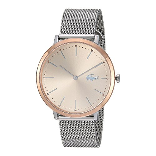 Lacoste Women's 'Moon Ultra Slim' Quartz Gold and Stainless Steel Casual Watch, Color Silver-Toned (Model: 2001002)