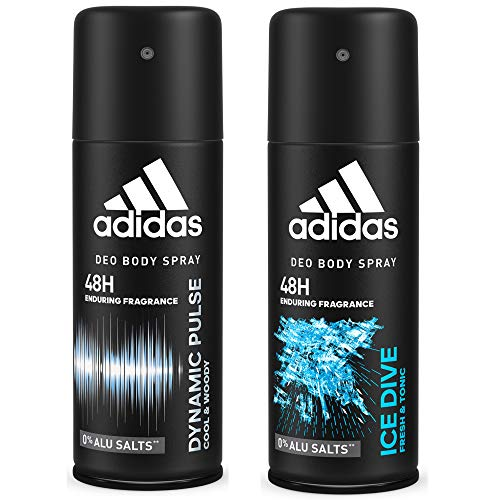 51TW%2BFxKscL. SS500  - Adidas Dynamic Pulse And Ice Dive Deodorant Body Spray Combo For Men, 150ml (Pack Of 2)
