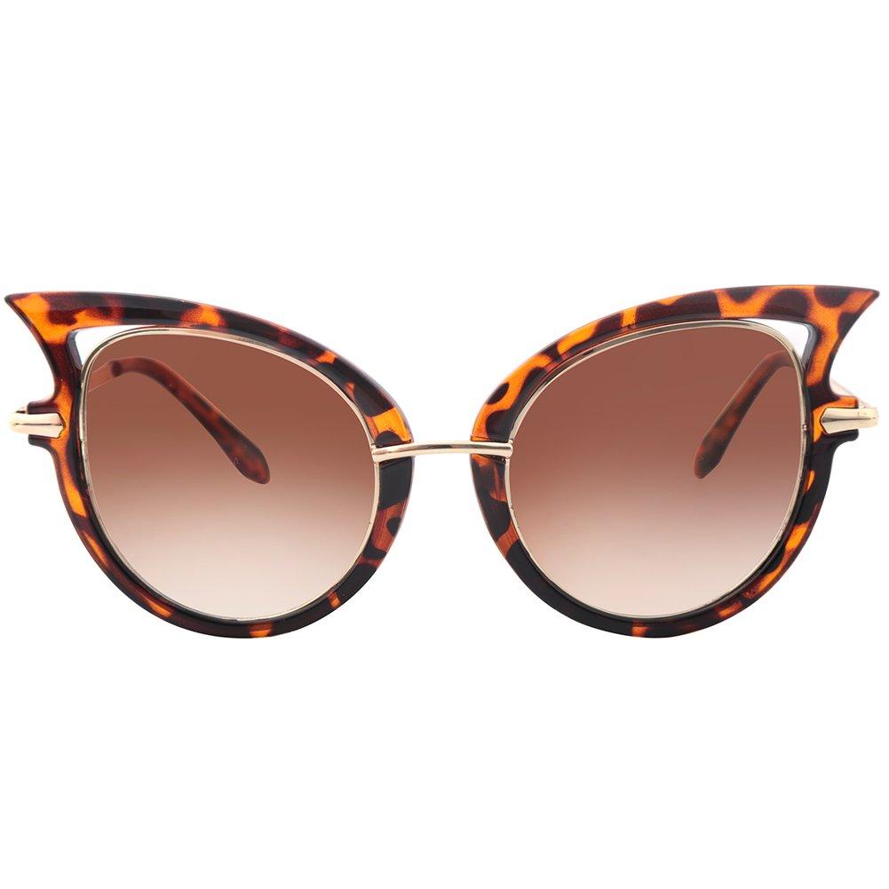 glasseslit inspirado Carey Mujer Fashion alta punta Ojo de ...
