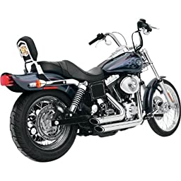 Vance and Hines Shortshots Staggered Chrome Full System Exhaust for Harley Davi - One Size