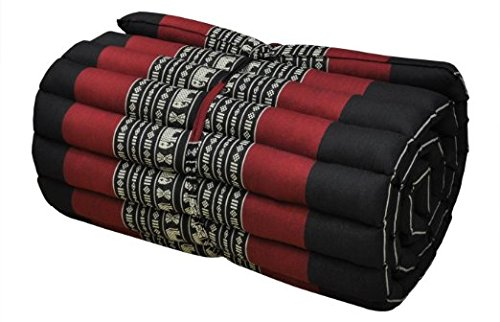 Roll up Thai Mattress Kapok (Red) by Thailand