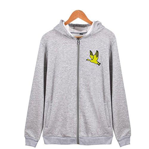 Boys Duck Active Jacket (flying duck cartoon Full Zip-Up Hoodie Jacket Active Soft Hoodies Sweatshirt Hooded)