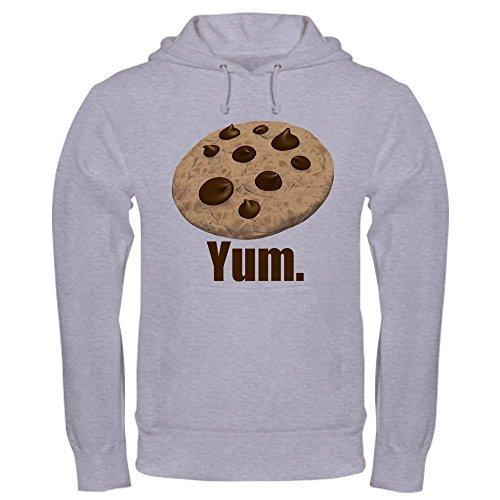 CafePress Yum. Cookie Pullover Hoodie, Classic & Comfortable Hooded Sweatshirt Heather Grey ()