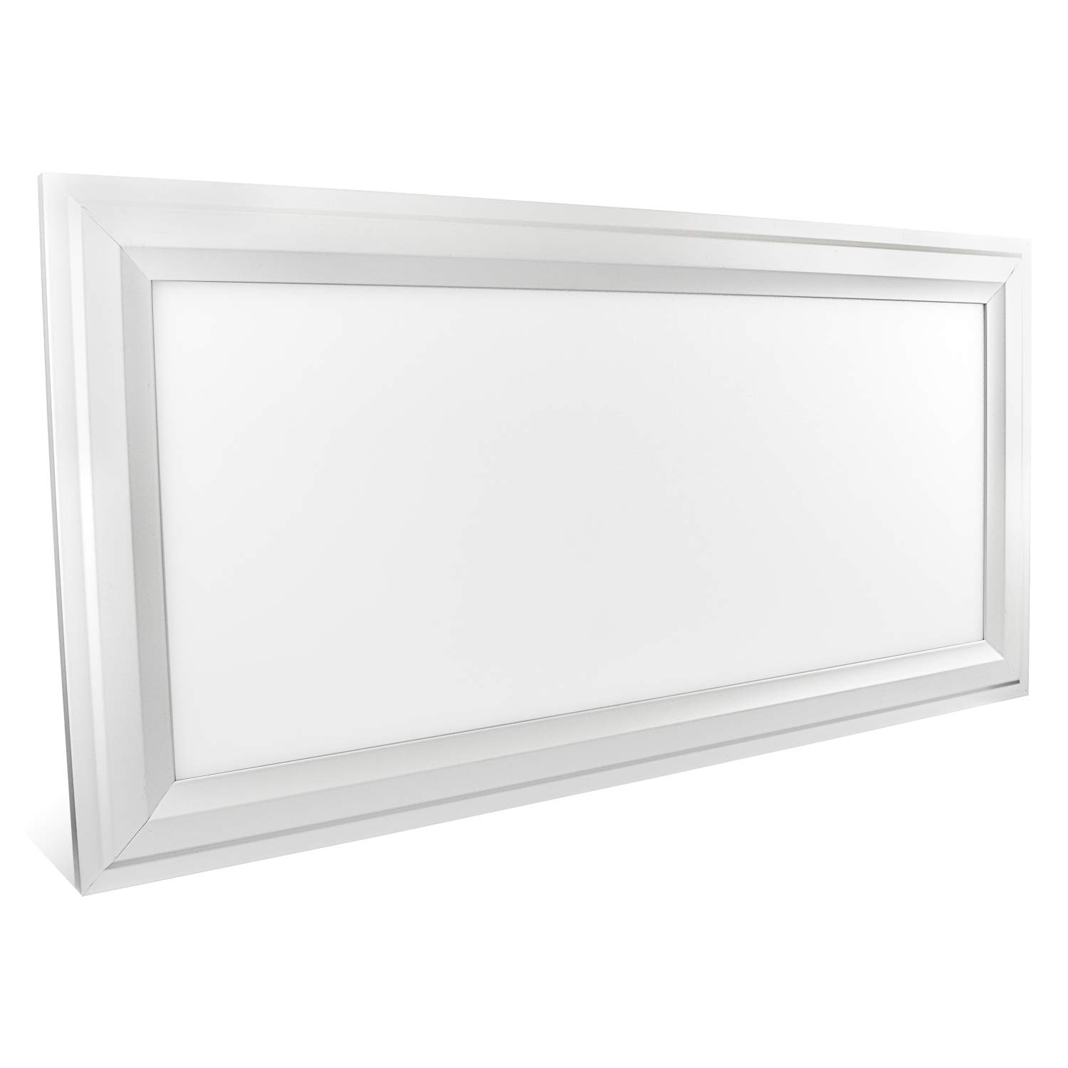 Luxrite 1x2 FT LED Panel Light Fixture, Ultra Thin Edge Lit 25W, 5000K Bright White, 2250 Lumens, Dimmable, Flushmount Surface Mount LED 12x24 Inch Drop Ceiling Light Panel, UL Listed