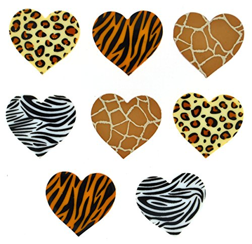 Jesse James Buttons (Jesse James (2-Pack) Dress It Up Buttons Novelty Shapes Collection #8302 Safari Hearts 8302-2P)