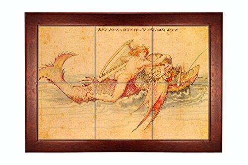 Ambras Art Book Arion (Durer) Framed Tile Mural 21