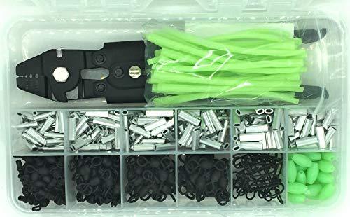 Swivel Sleeves (442 Piece Deep Drop Rigging Kit - Glow Sleeves, Swivel Sleeves, Glow Beads, Crimps)