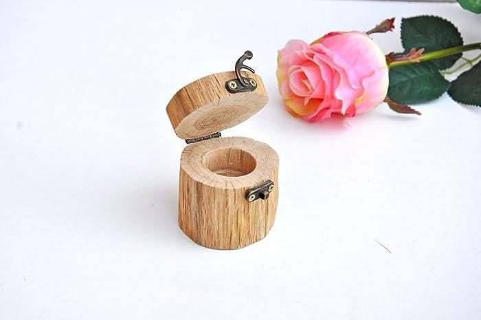 Caja de madera para anillos de boda Caja de anillo de compromiso Caja de anillos de