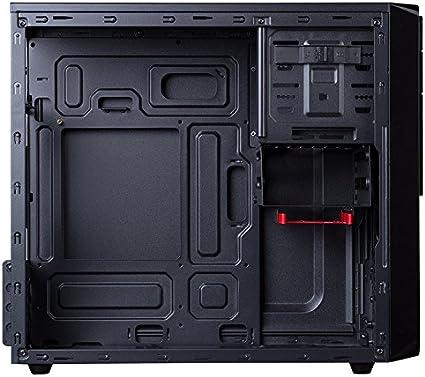 Hiditec CHA010012 Carcasa de Ordenador Micro-Tower Negro - Caja de Ordenador (Micro-Tower, PC, SECC, Negro, ITX,Micro ATX, 175 mm): Hiditec: Amazon.es: Informática
