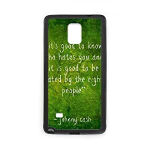 Johnny Cash New Printed Case for Samsung Galaxy Note 4, Unique Design Johnny Cash Case hjbrhga1544