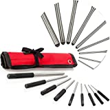 (US) TuffMan Tools, Roll Pin Punch Set 9pc - Great for Gun Building and Removing Pins