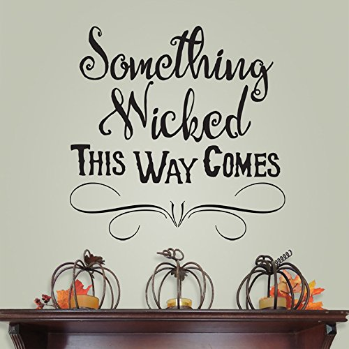 Something wicked this way comes mantel decoration
