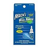 Mack's Wax Away Earwax Removal System - 0.5 FL OZ Ear Drops with Ear Syringe