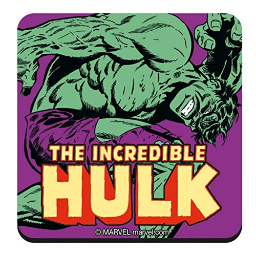 - Genuine Marvel Comics The Incredible Hulk Single Coaster Drinks Mat Vintage Retro