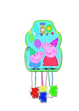 Peppa Pig 0846, Piñata Perfil,, Fiestas y cumpleaños, Dimensiones: 33x46 cms