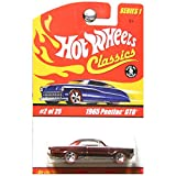 Hot Wheels Classics Series 1 1965 Pontiac GTO Redline Wheels Dark Red Metallic #2