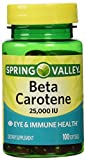 Spring Valley Beta Carotene 25000IU 100ct Softgels Discount