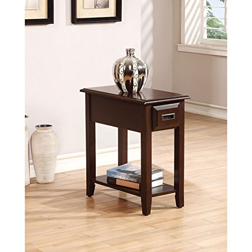 Cheap ACME Furniture 80518 Flin Side Table, Dark Cherry