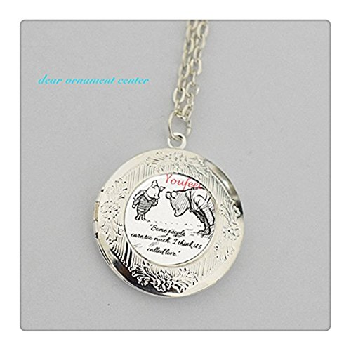Piglet Jewelry - Bear and Piglet Pendant Necklace Locket