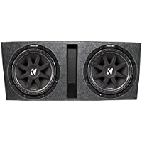 2) KICKER 43C154 15 1000W COMP Car Subwoofers Subs+ Vented Dual Sub Enclosure