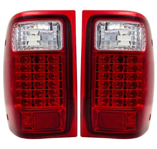 - AJP Distributors Replacement Red Lens Led Stop Brake Tail Lights Pair For 1993 1994 1995 1996 1997 1998 1999 Ford Ranger 93 94 95 96 97 98 99 Upgrade Rear Driving Assembly