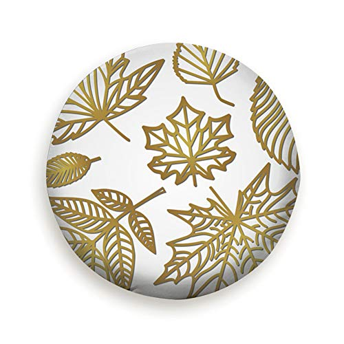 Spare Tire Cover Openwork Autumn Leaves Laser Cutting Paper Vintage Polyester Water Proof Dust-Proof Universal Spare Wheel Tire Cover Fit for Jeep,Trailer, Rv, SUV and Many Vehicle