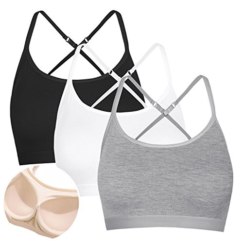 Workout Top Shelf Bra Athletic Active Camisole Vest Shirt Black White Grey