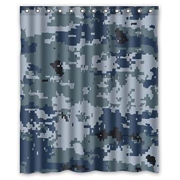 Rideau de douche Motif camouflage militaire (60 x 72) avec 12 trous ...