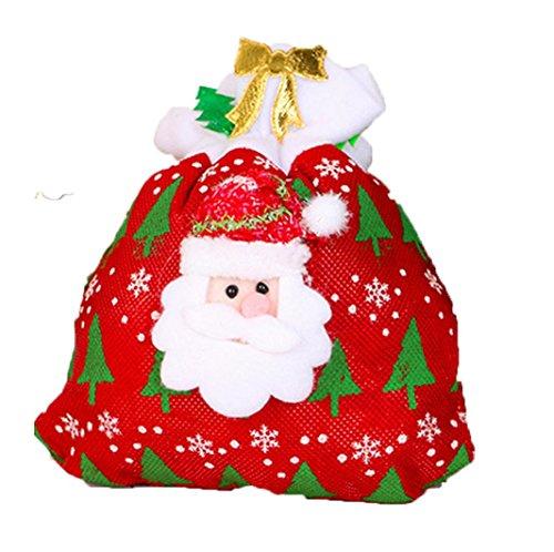 Iuhan Xmas Decoration Creative Home Party Christmas Bag Souvenir Candy Gift Makeup Bag (C)