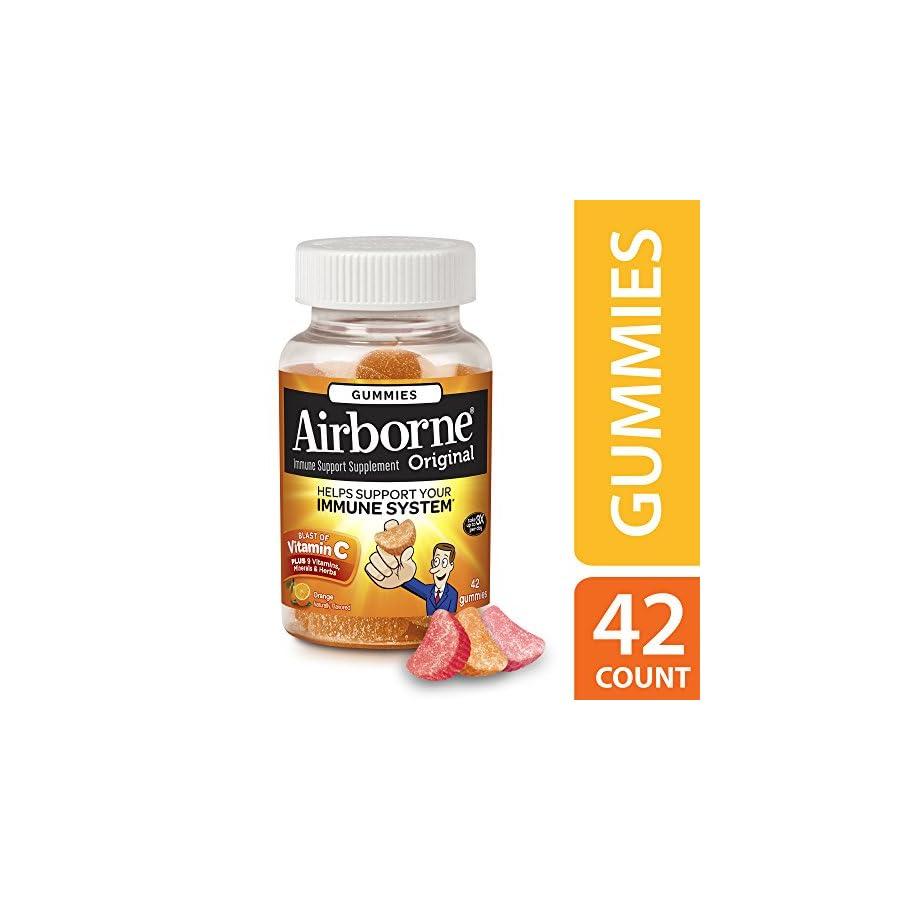 Airborne Original Immune Support Supplement, Orange, 42 Gummies