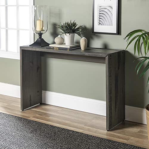 WE Furniture Reclaimed Wood Entry Table in Gray – 48