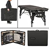 """BestMassage 73"""" PU Portable 2"""" Padding Folding Massage Table w/Free Carry Case Bed Spa Facial"""